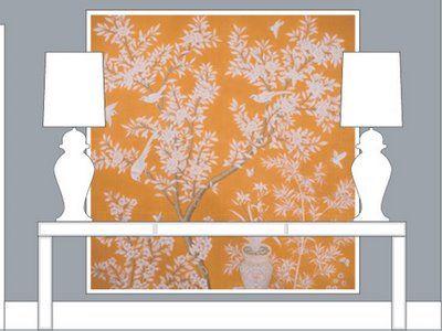 Decorative But Not Serious January 2009 Living Room Inspiration Yellow Wallpaper Silk Wallpaper