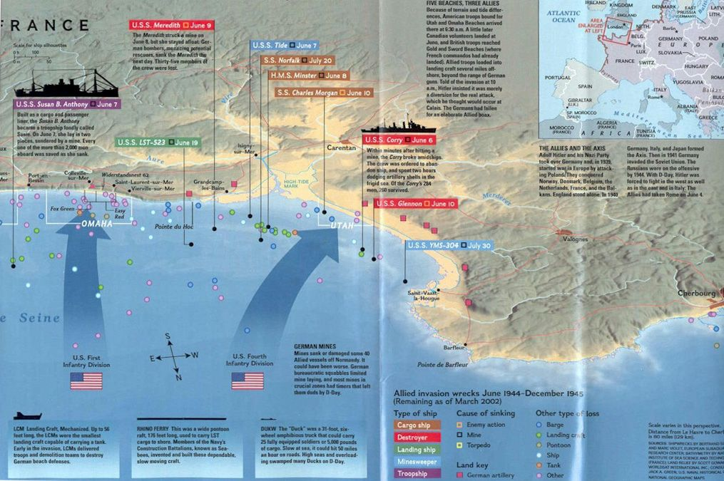 Map of D Day operations from National Geographic