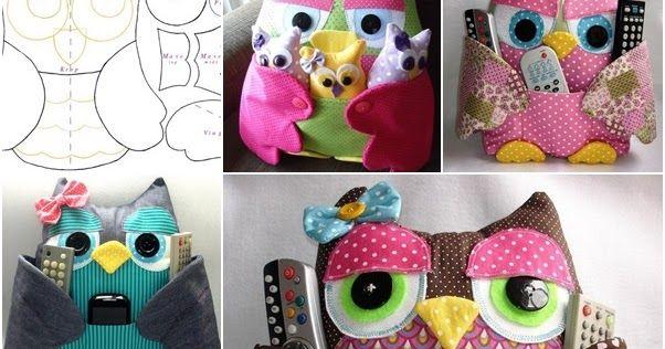Cartamodelli Bambini ~ Gufi di stoffa fai da te cartamodelli e tutorial cucito