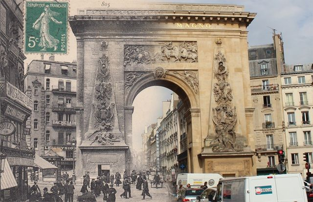 Le cartoline storiche di Parigi attualizzate da Julien Knez - Focus.it