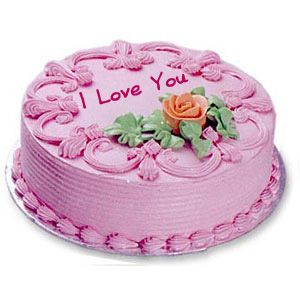Send Valentine Strawberry Cake