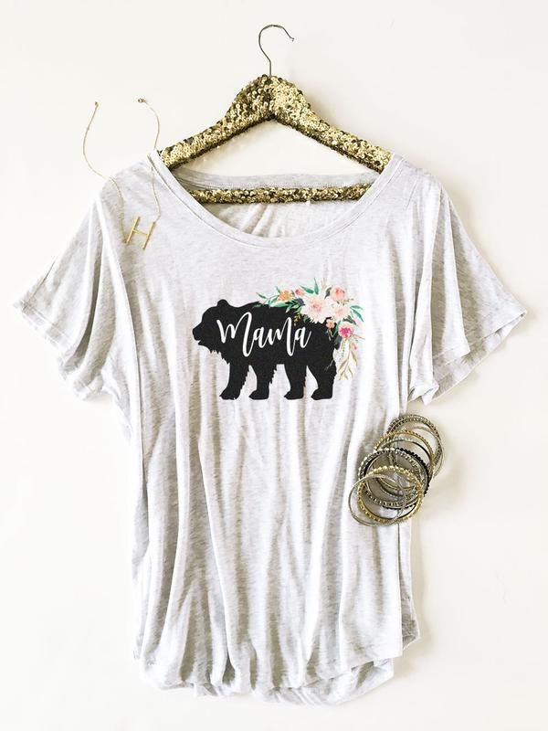 7e7d3d7e4 Our loose fitting and oh so soft Mama Bear Shirt is the perfect gift for  Mom's everywhere.Featuring a lovely rustic watercolor flower design with  the word ...