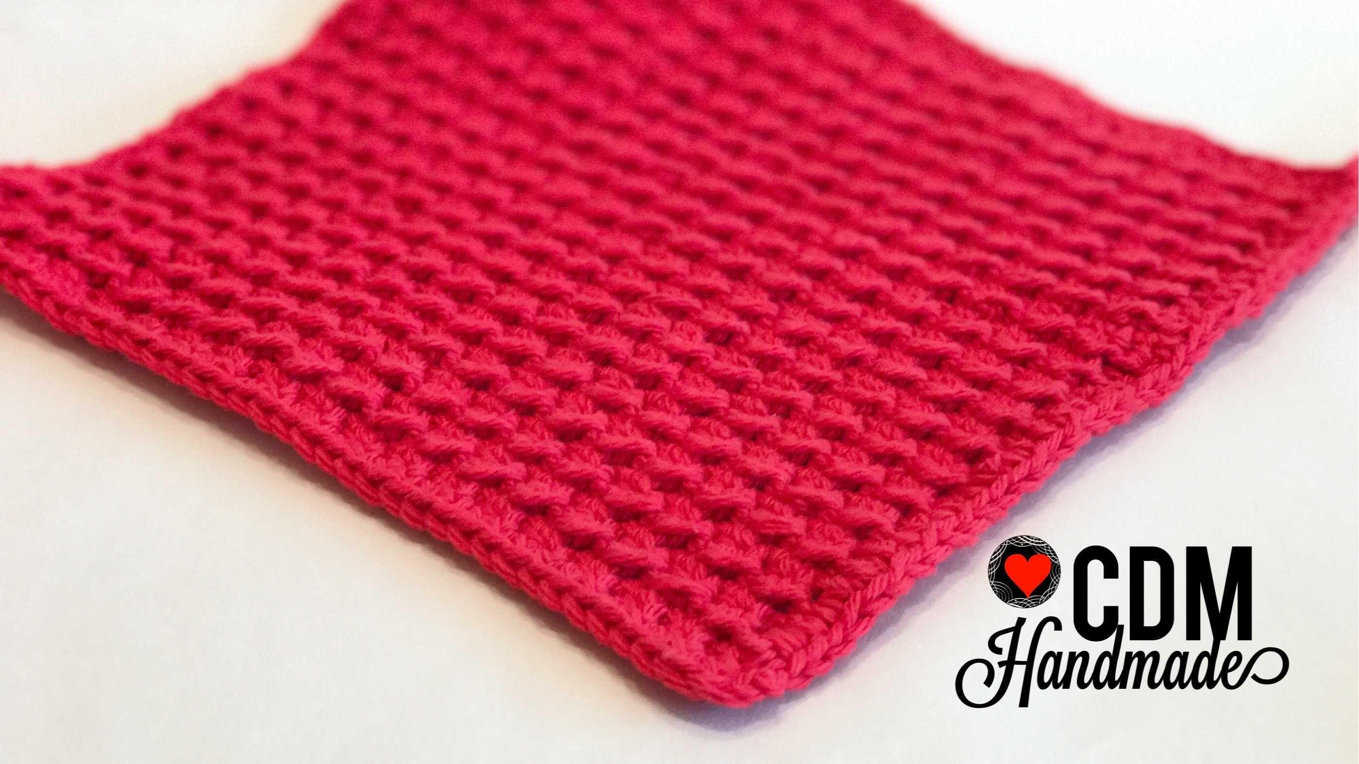 Washcloth Series: Crunch Stitch Crochet Washcloth – CDM Handmade ...