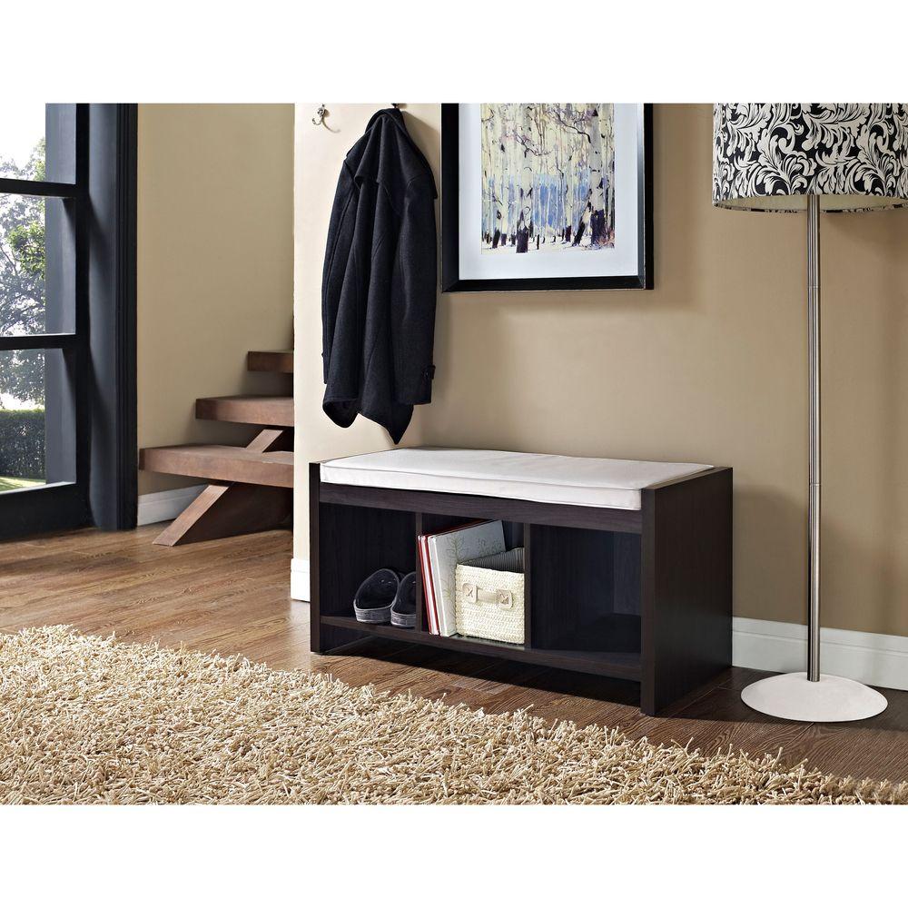 Overstock Foyer Furniture : Avenue greene birchmont entryway storage bench with