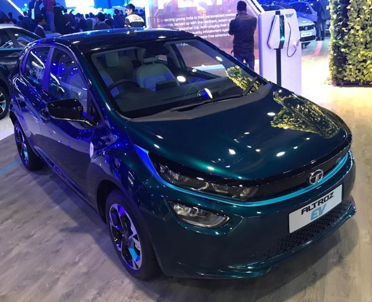Tata Altroz Electric Car Showcased At 2020 Auto Expo In 2020 All