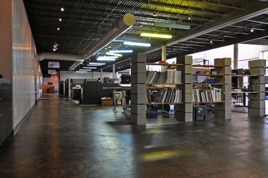 block shelves cinder blocks loft office office designs office ideas