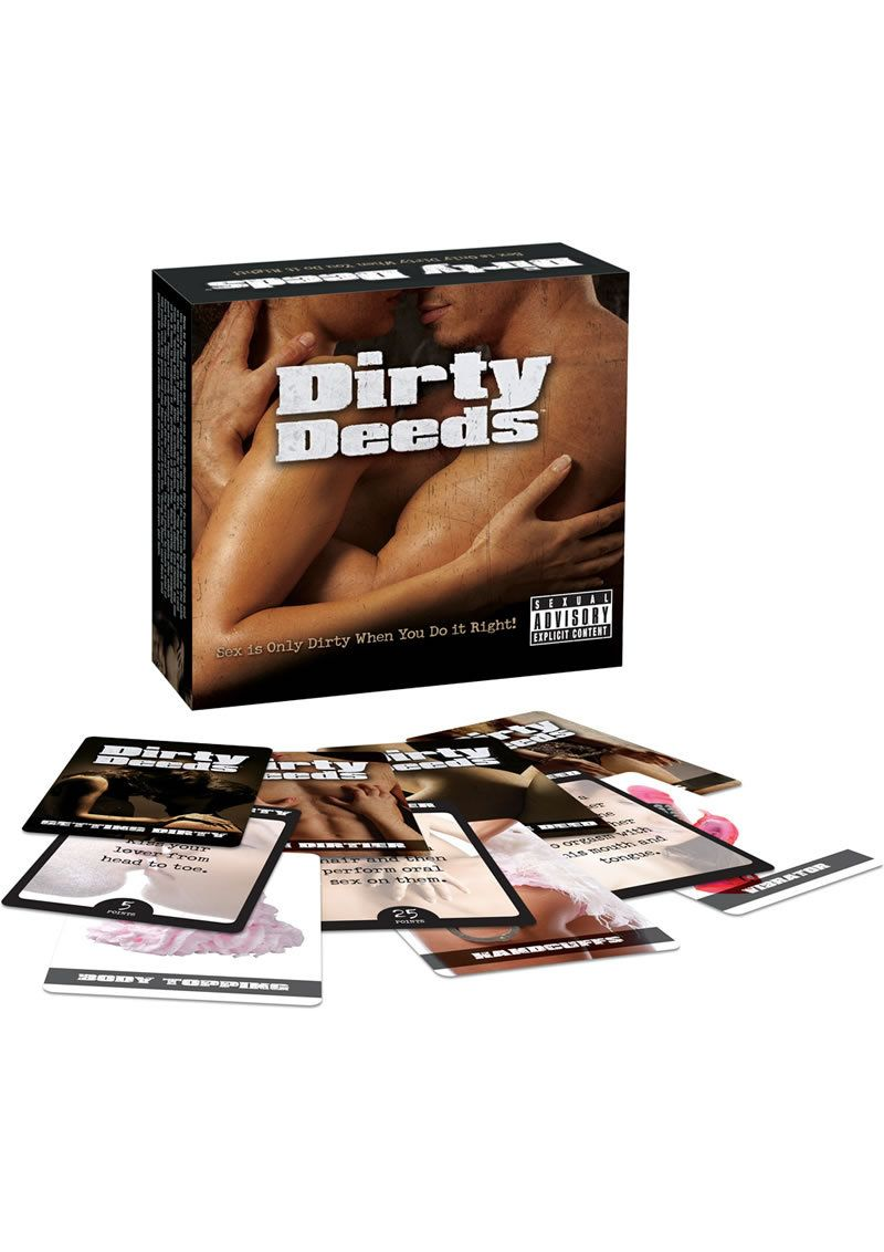 dirty deeds couples activity card game | date stuff | pinterest