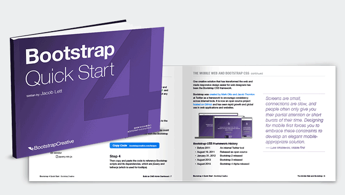 Bootstrap 4 Quick Start Book Pdf Responsive Web Development Tutorial Web Development Tutorial Web Design Quotes Web Development Design