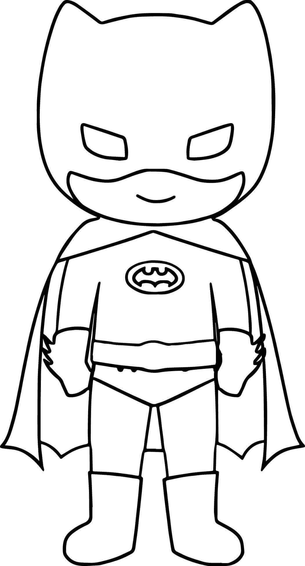 Superhero Batman Coloring Page