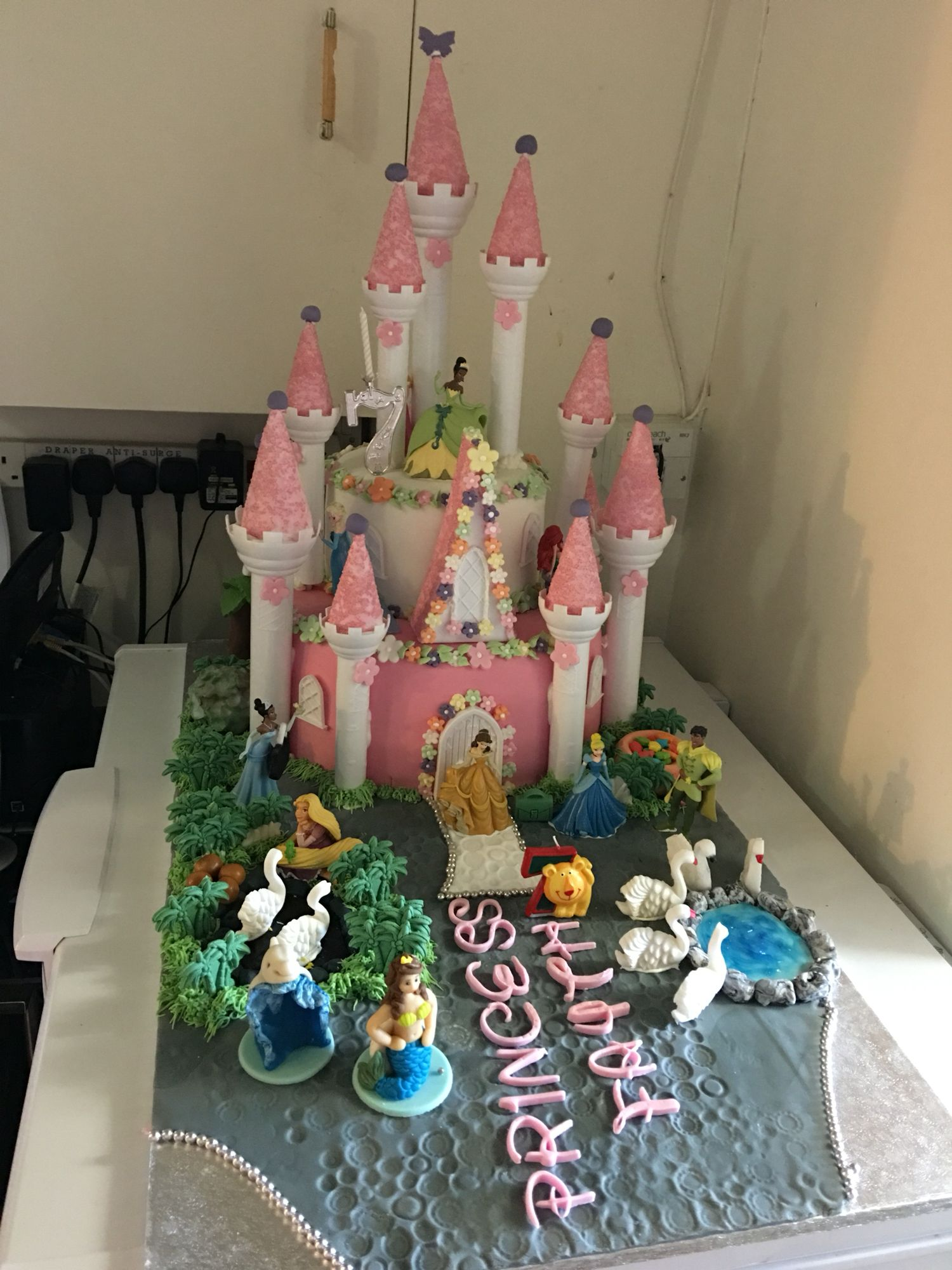 Princess Disney Castle Cake Birthday Party Ideas Pinterest