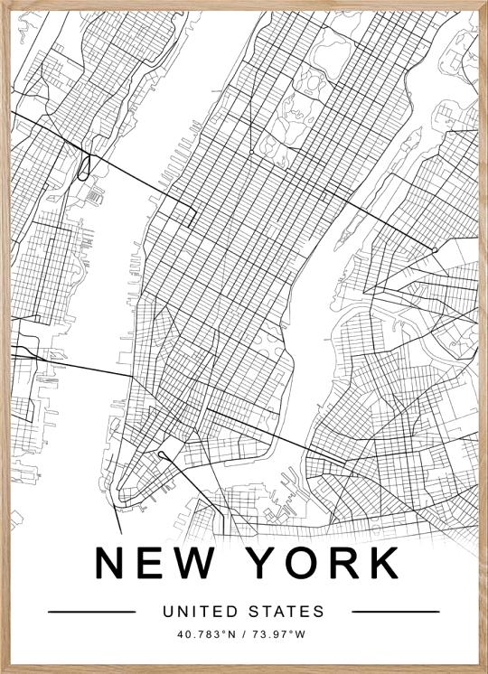 NEW YORK MAP #manhattan #newyork #new #york #city #map #citylover #themiuusstudio #homedecor #printablemap # #digitalart #digital #art #simple