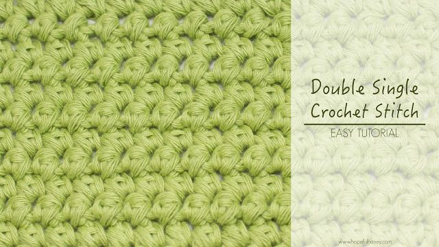 How To: Double Single Crochet (Mini Puffs) - Hopeful Honey
