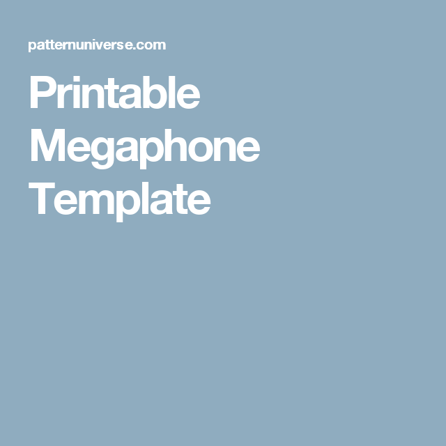 graphic about Printable Megaphone Template titled Printable Megaphone Template Craft tasks Templates