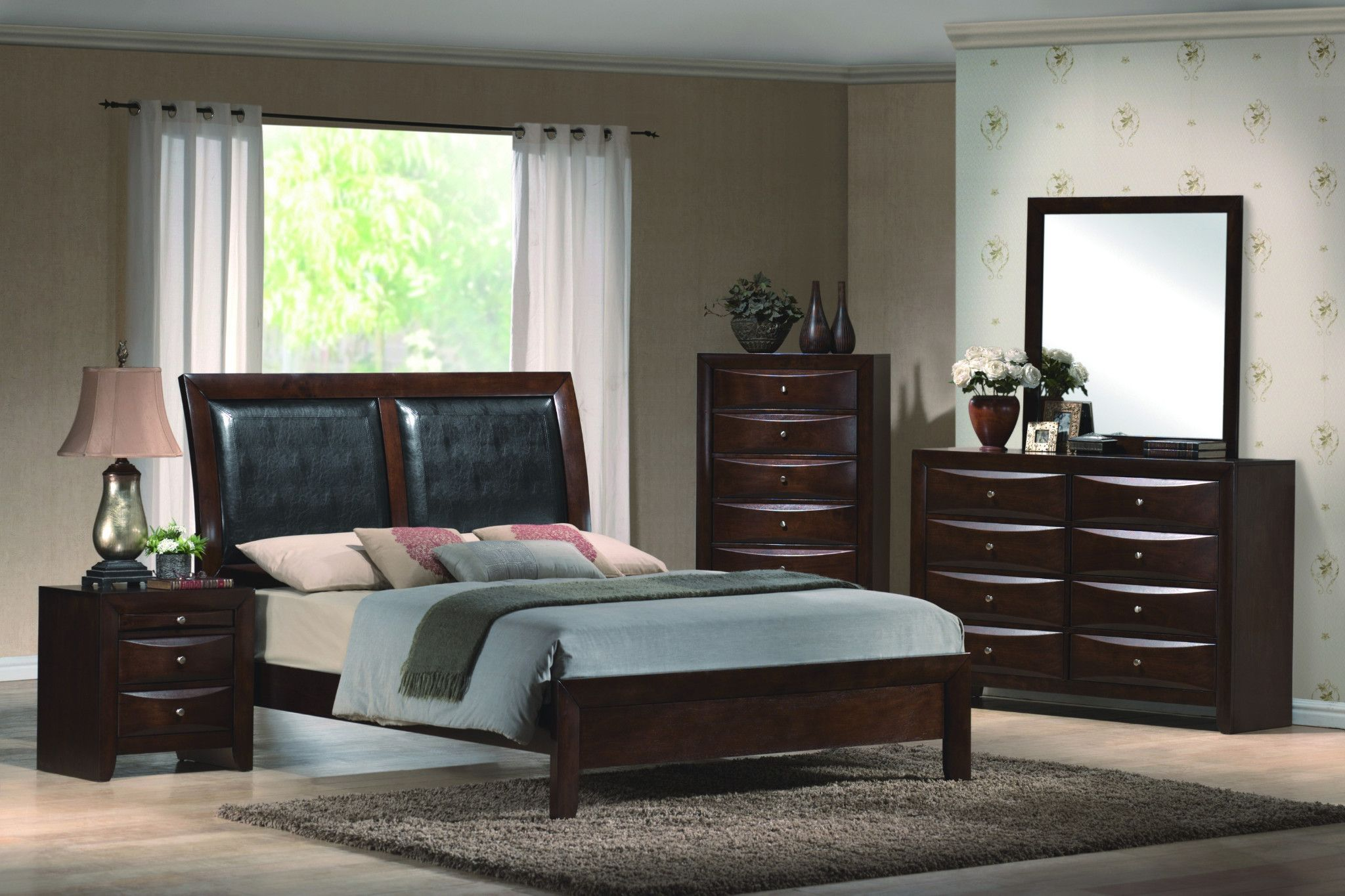 Emily Bedroom Suite With Padded Headboard Bed Queen 1159 00 Or 1259 00 King Also Available I Bedroom Sets Queen Espresso Bedroom Furniture Platform Bed Sets