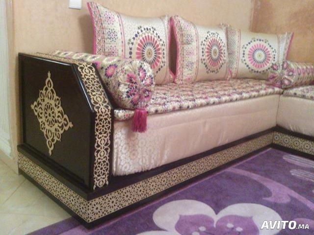 Salon marocain au mètre bois | BELDI | Moroccan home decor ...