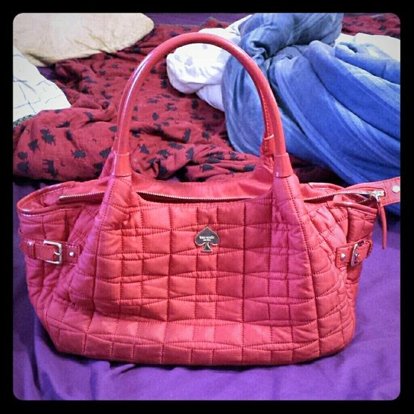 Red Quilted Kate Spade Stevie Bag | It is, On the side and Hard to : kate spade red quilted bag - Adamdwight.com