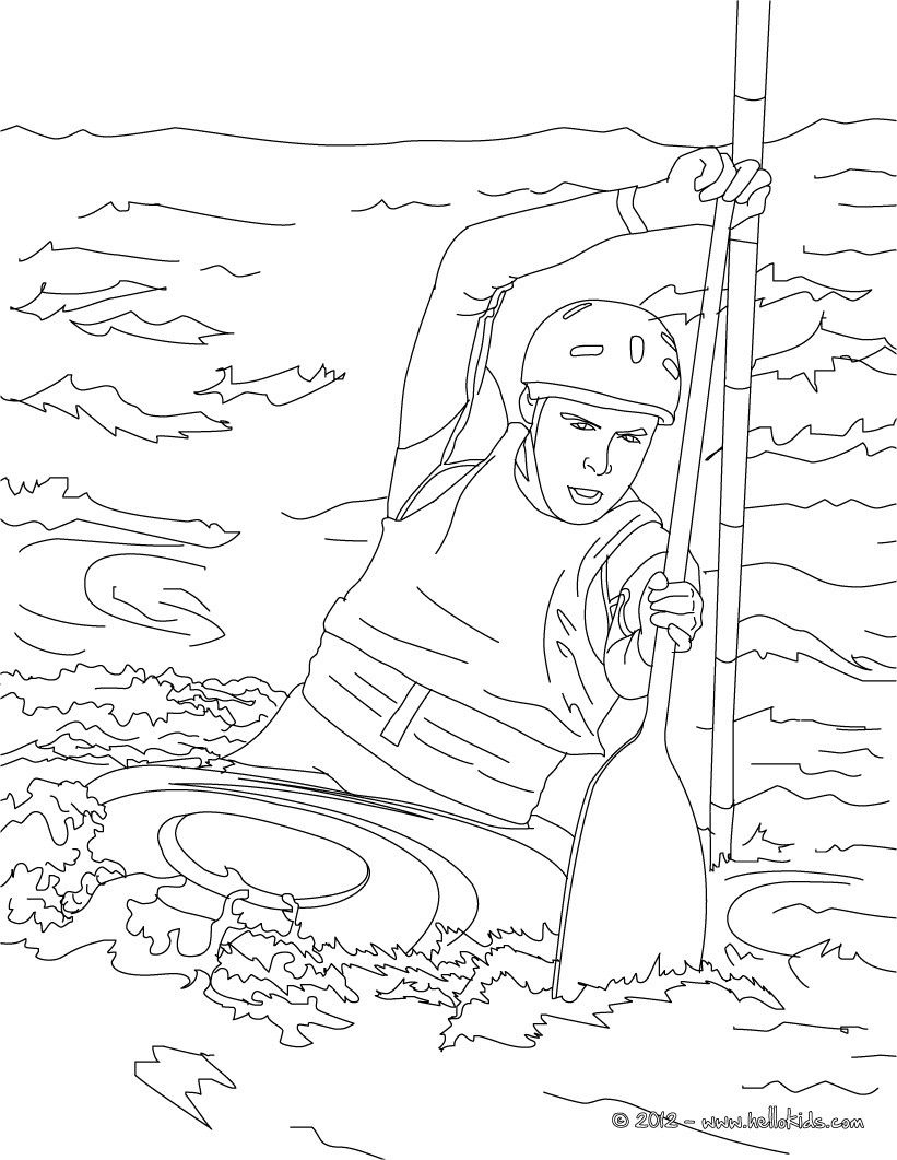 this canoe kayak coloring page is available for free on hellokidscom more sports