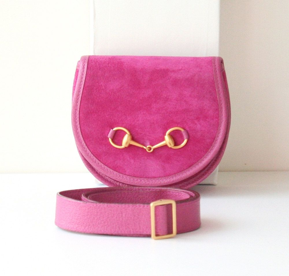 fc1d25f2c370 Gucci Suede Waist Belt Bag Pink Horsebit vintage authentic handbag purse by  hfvin on Etsy #Gucci #Suede #Waist #Belt #Bag #Pink #Horsebit #vintage ...