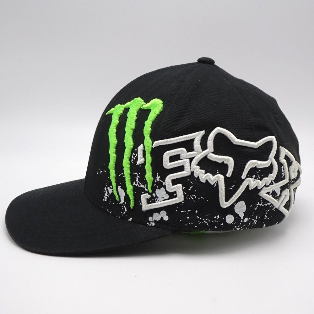 b590d5e0 Fox - Monster Energy Collaboration Flex Fit Hat #4 Ricky Carmichael Size  S/M cap #FoxRacing #BaseballCap