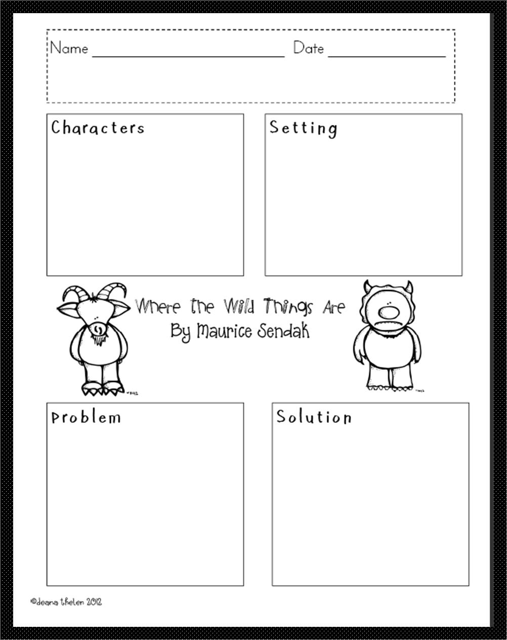 Wild Things Ela Lesson Activities Wild [ 1265 x 1002 Pixel ]