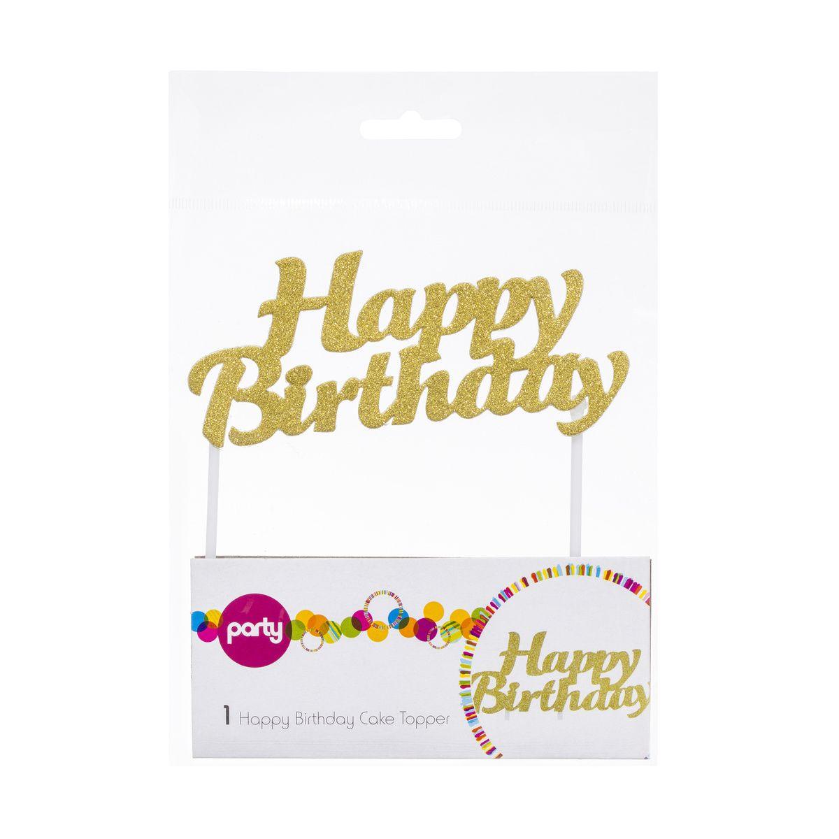 Happy Birthday Cake Topper Kmart Birthday cake topper