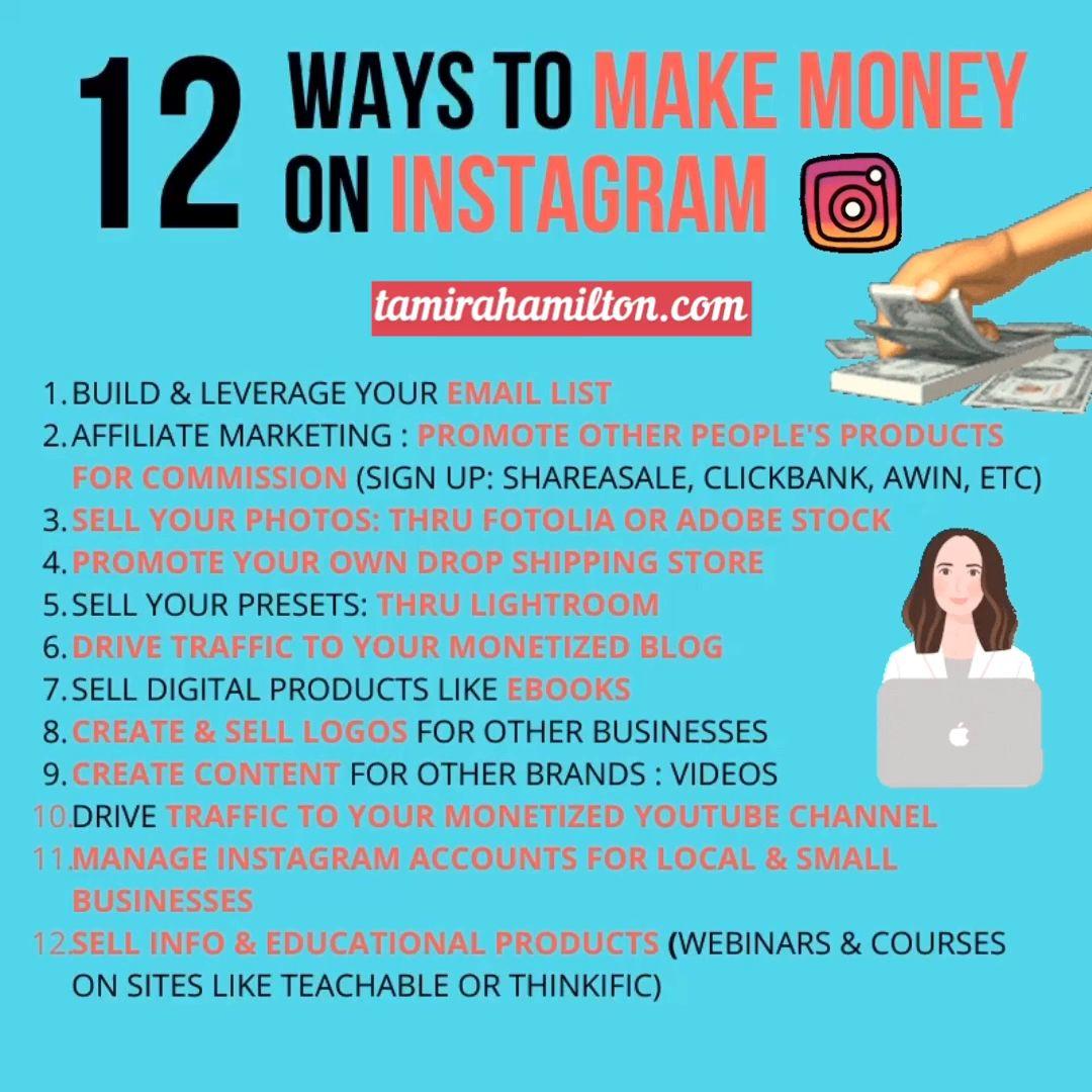 12 Ways to Make Money On Instagram