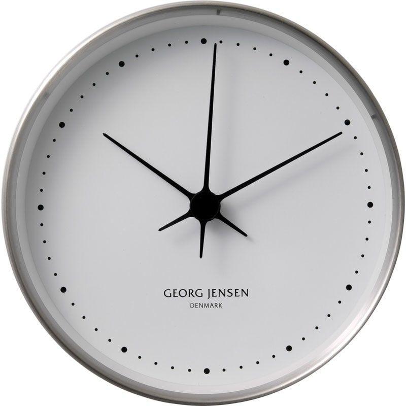 Koppel Veggur 10 Cm Rustfritt Stal White Clocks Clock Large Clock