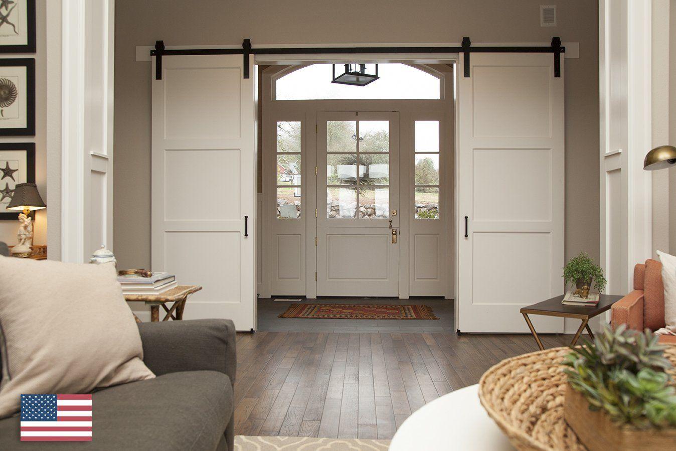Master bedroom door design  American Made ft Double Door Classic Sliding Barn Door Hardware