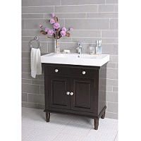 Vanity With White Porcelain Sink And Top Bathroom Vanity Bathroom Sink Vanity Small Bathroom