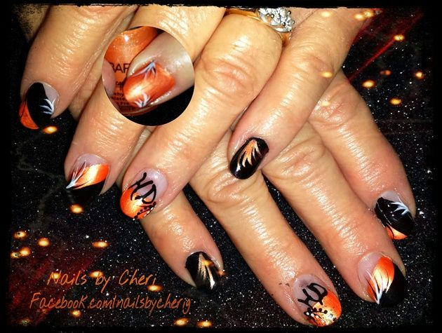 Harley Davidson nails on acrylic by cagrachek from Nail Art Gallery - Harley Davidson Nails On Acrylic By Cagrachek From Nail Art