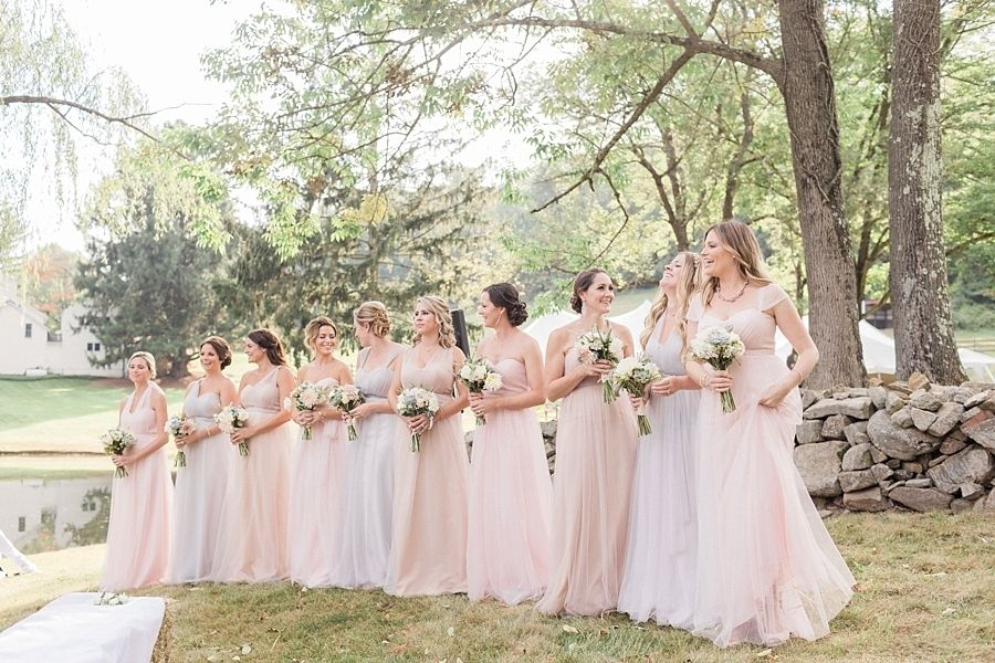 Photography : Elena Wolfe | Bridesmaids Dresses : BHLDN | Wedding Dress : Carol Hannah Read More on SMP: http://www.stylemepretty.com/2016/04/18/a-rustic-wedding-at-the-grooms-family-farm/