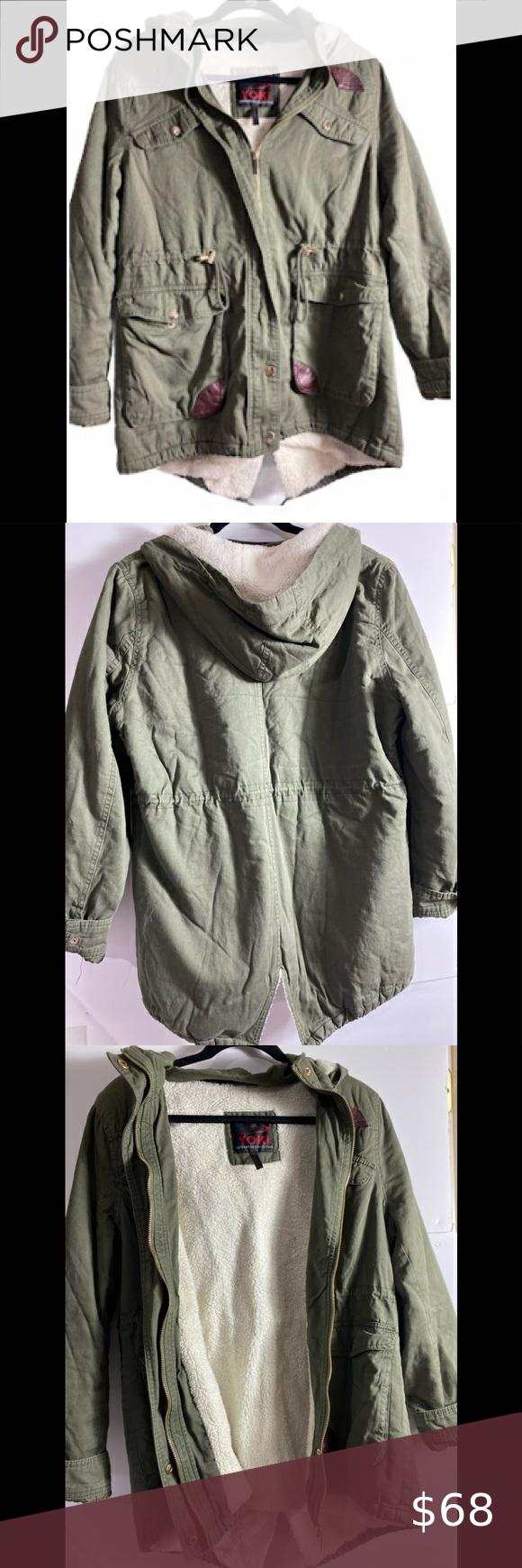 Yoki Olive Green Utility Hooded Jacket Hooded Jacket Yoki Jackets [ 1740 x 580 Pixel ]
