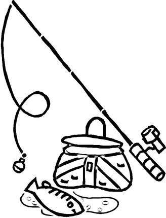 Equipment For Fishing Coloring Page Super Coloring Fish Coloring Page Minion Coloring Pages Mermaid Coloring Pages
