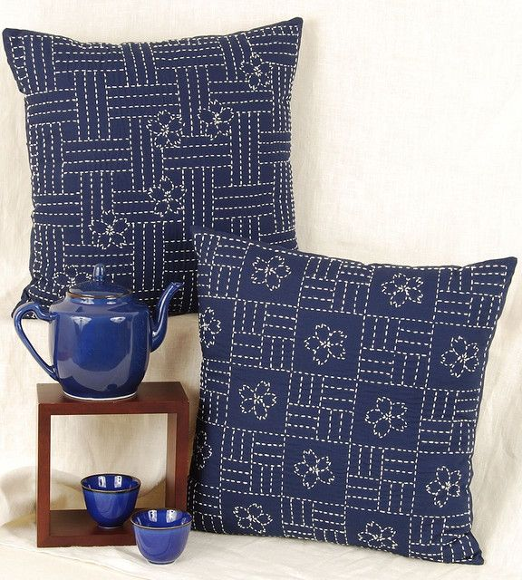 sashiko cushions by Alderspring Design, via Flickr
