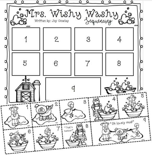 Mrs Wishy Washy Literature Unit Literature Connection