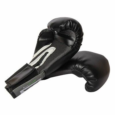 Black Everlast Pro Style Full Mesh Palm Training Boxing Gloves