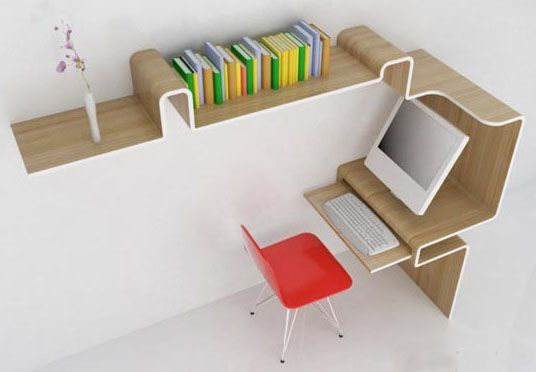 All In One Desk Storage Shelving Space Saving Furniture Small Home Office Furniture Office Desk Designs