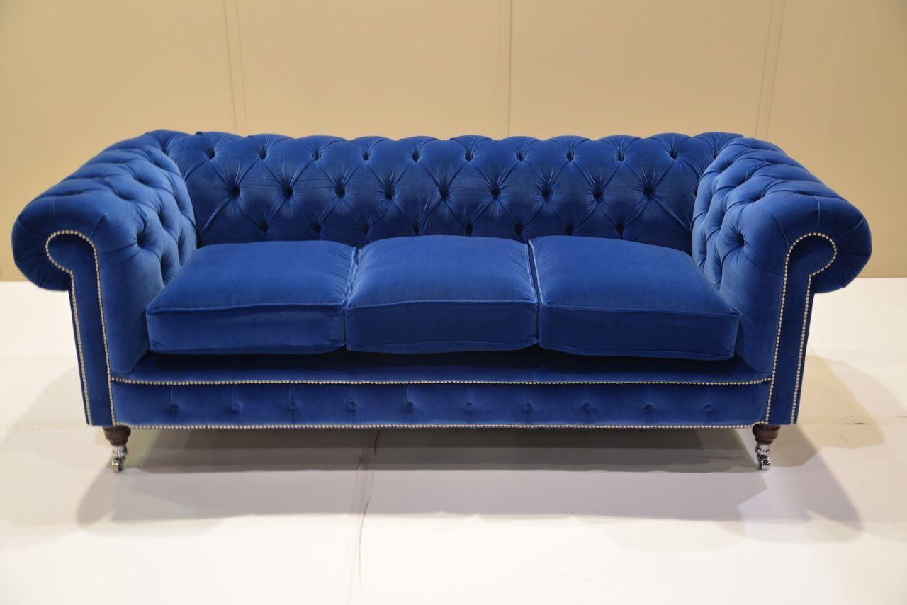 Amazing Royal Blue Sofas Carldrogo Also Blue Tufted Sofa 7005