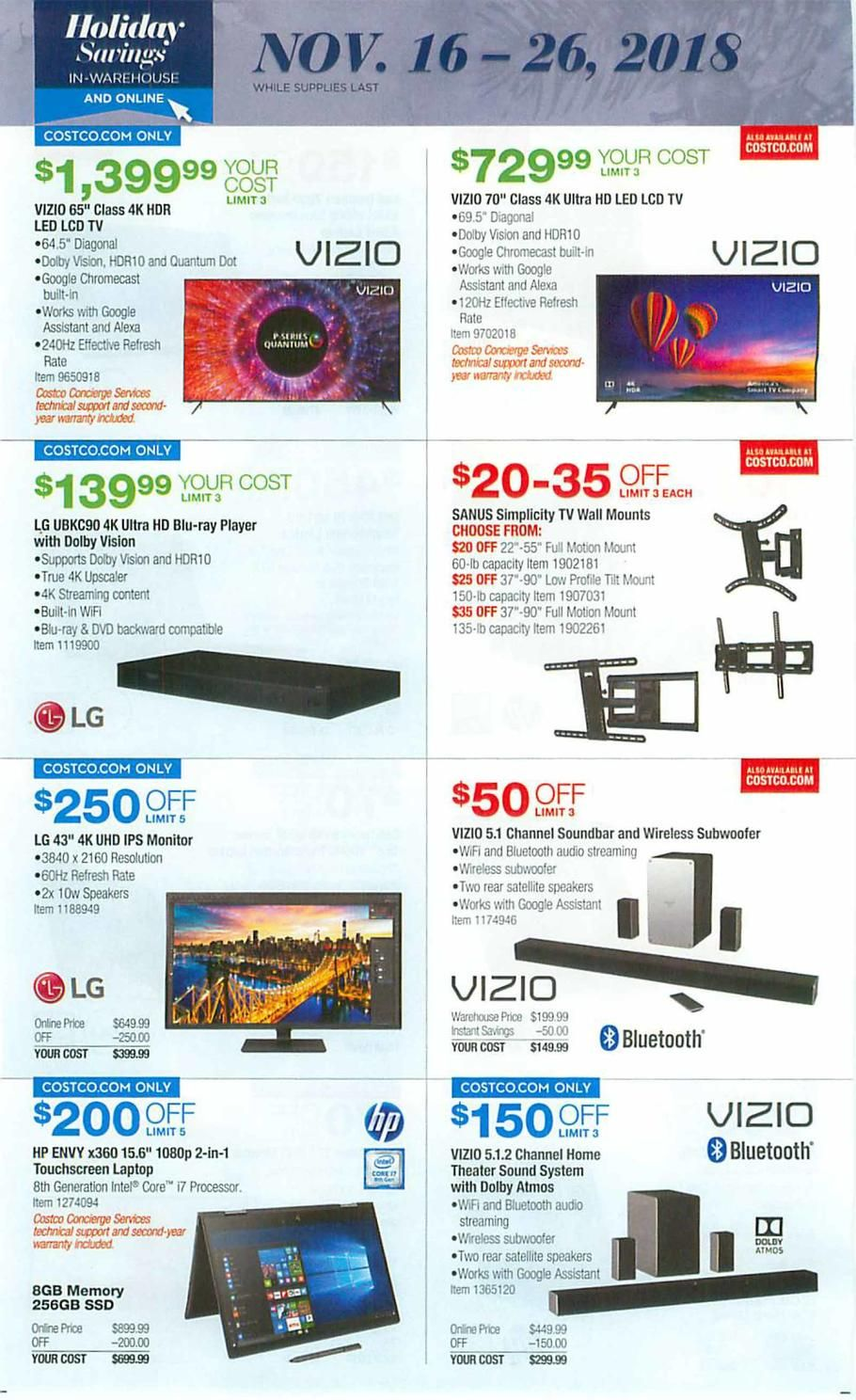 Costco Holiday Books 2018 Ads Scan, Deals and Sales