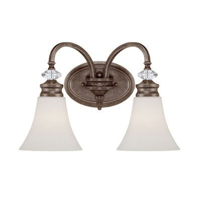 Jeremiah Boulevard 2 Light Wall Sconce Glass Type: