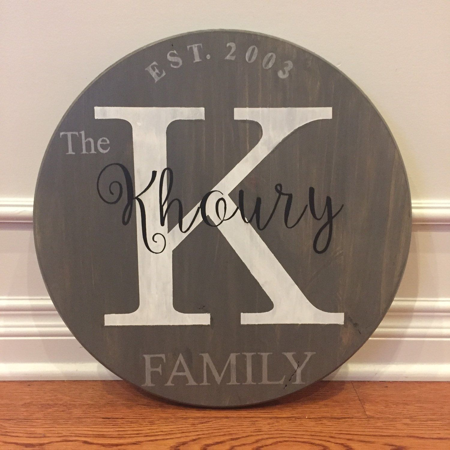 Personalized Wood Wall Art custom wood pallet custom wall art custom wood sign round monogram
