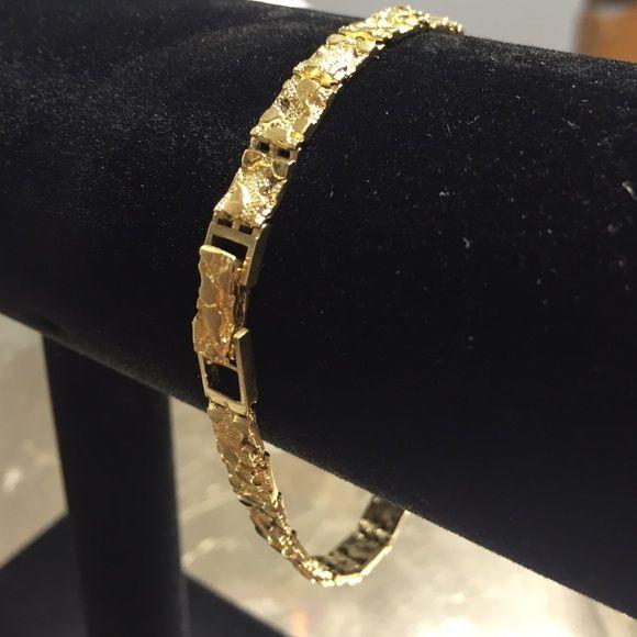 10kt Gold Nugget Bracelet 10kt Gold nugget bracelet 8 long