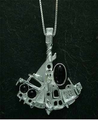Regine Juhls Tundra Serie Silver And Gemstones Pendant