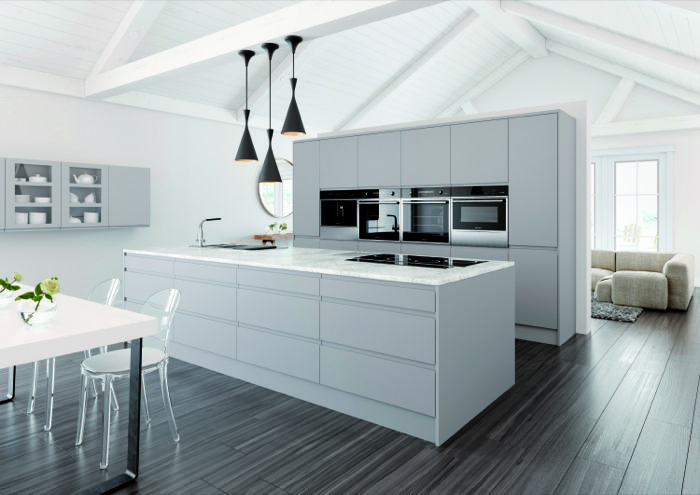 Best The Handleless Pinova Kitchen By Crown Imperial Has A 400 x 300