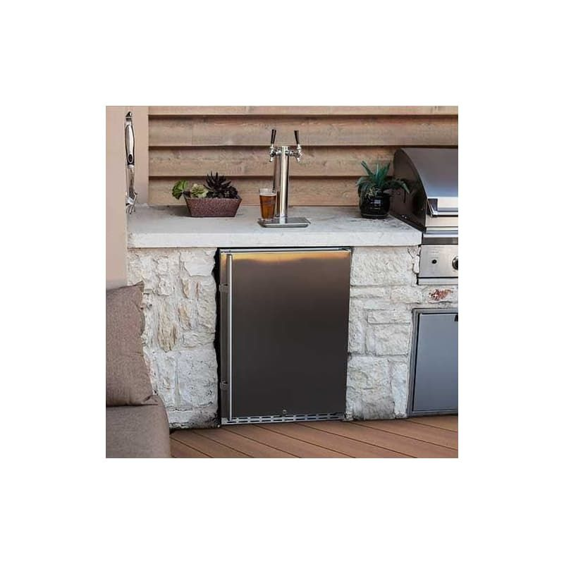 edgestar dual tap beer kegerator 7000 series kc7000ssodtwin in 2020 stainless steel faucets on outdoor kitchen kegerator id=70610