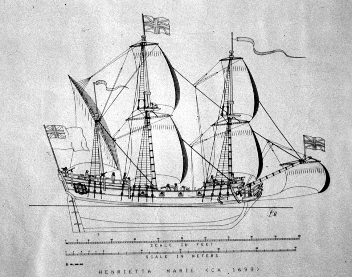 "SLAVE SHIP ""HENRIETTA MARIE,"" 1699. 