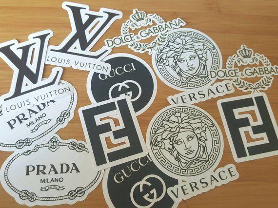 Sticker Pack Gucci Versace Prada Louie Vuitton Fendi