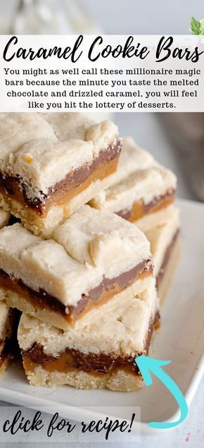 Chocolate Caramel Cookie Bars | Salty Side Dish -   19 desserts Bars dads ideas