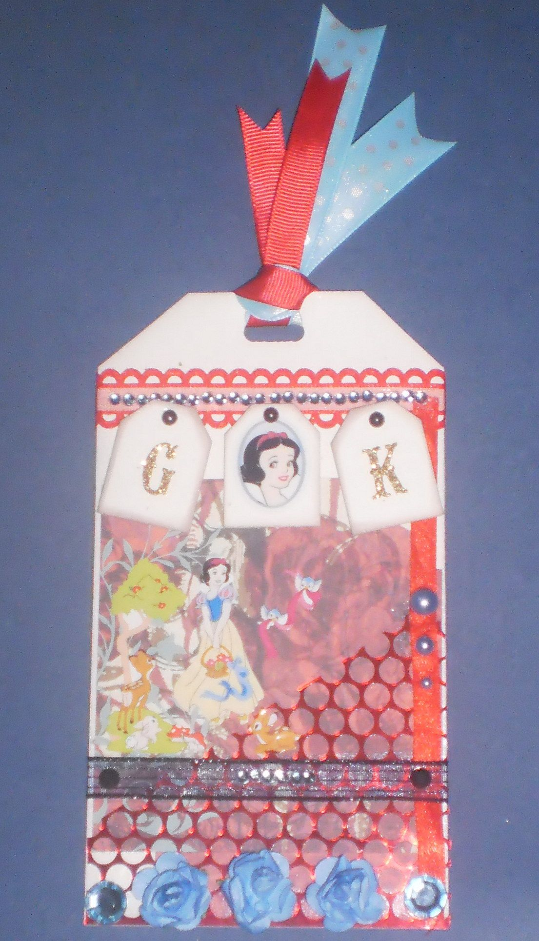 Snow White tag for a friend with magnets on the back..... Custom Crafter's Creations >^._.^< By Jenny