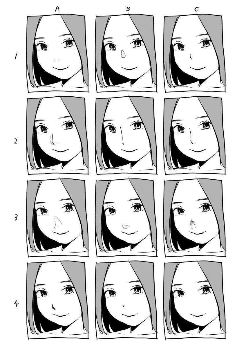べろせ on Anime nose, Nose drawing, Manga nose